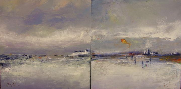 Marée Basse-diptyque-2x(30x30cm.)